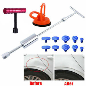 Car Auto Slide Hammer T Bar Suction Cup Tab Body Dent Repair Removal Tool Kit