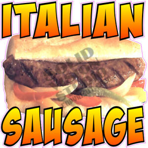 Italian Sausage Concession Trailer Hot Dog Cart Food Truck Vinyl Decal
