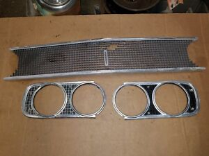 Coronet 68 1968 Dodge R T 440 500 Super Bee Front Grille Headlight Trim Man Cave