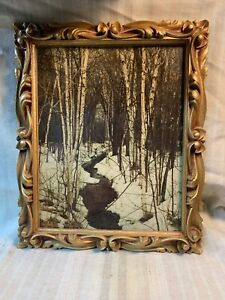 Vintage Gold Picture Frame Ornate Resin Wedding Decor Gallery Wall