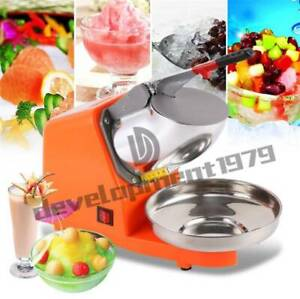 85kgs h 300w Commercial Dual Blade Ice Shaver Crusher Shaved Icee Make Machine