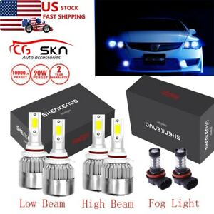 9005 9006 9145 9140 H10 8000k Led Headlights Fog Lights For Honda Civic 2004 13