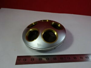 Leitz Wetzlar Germany Sm lux Brass Nosepiece Microscope Part As Is