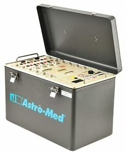Astro med Daq Portable 6 slot bay Data Acquisition System modules plug ins