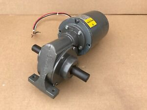 Baldor Gc9415 1 8hp Right Angle Gear Motor W Reducer Rpm 49 Made In Usa