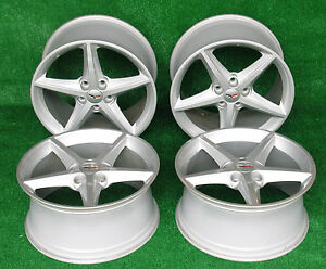 2013 Corvette Wheels 60th Anniversary Set Of Four 2 Front And 2 Rear Great Shape