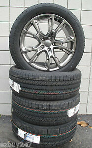 20 New Jeep Grand Cherokee Srt8 Style Hyper Silver Four 20x9 Wheels Tires 9113