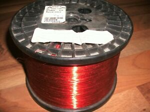 30 Awg Gauge Enameled Copper Magnet Wire 8 0 Lbs 25696 Length 0 0108 155c Red