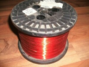 30 Awg Gauge Enameled Copper Magnet Wire 7 375 Lbs 23688 0 0108 155c Red