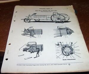 John Deere Model D Manure Spreater Parts Catalog Pc c63
