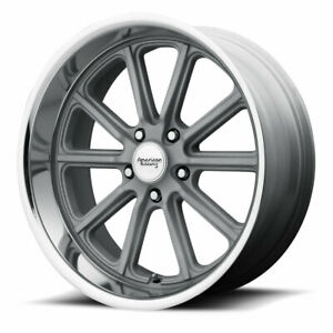 1 New 20x8 American Racing Rodder Mag Grey Cut Lip Wheel Rim 5x120 65 Et0