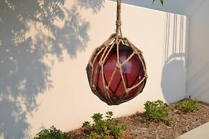 Reproduction Purple Glass Float Ball With Fishing Net 12 F 957