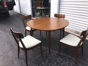 Kipp Stewart For Drexel Table And 4 Chairs Mid Century Modern