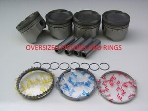 Oversized Honda Civic Vitara Turbo Pistons D16 Si Rings Zc D16y Floating Hot
