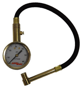 Right Angle Chuck Dial Tire Pressure Gauge With Hose