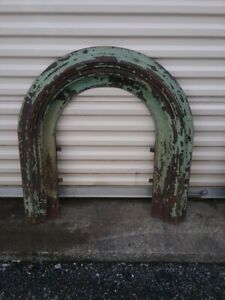 Antique Cast Iron Fireplace Surround Jackson Ny Ny 1800 S Green Paint 32 X33 T