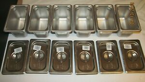 x6 Vollrath 30942 Super Pan V 1 9 Size Stainless Steel Steam Table Pan W lids