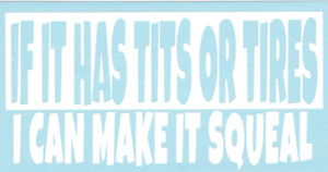 If It Has Tits Or Tires Funny Car Truck Suv Vinyl Sticker Decal