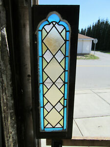 Antique Gothic Stained Glass Window 12 X 40 1 Of 2 Architectural Salvage