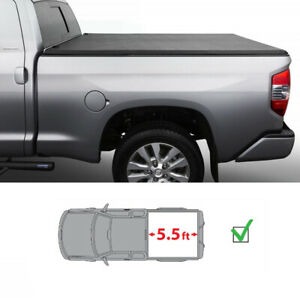5 5ft Bed Black Assemble Lock Tri Fold Tonneau Cover For 2007 2019 Toyota Tundra