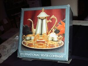 International Silver Co 4 Piece Coffee Set New In The Box