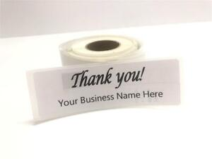 Custom Thank You Labels 1 X 3 Personalized Custom Business Logo Stickers label