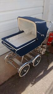 Vintage Antique Baby Carriage Stroller Buggy Old 1950 1970 S
