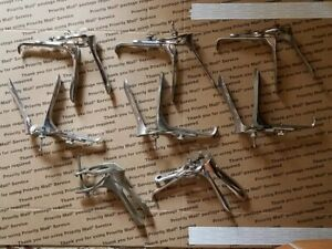 Medical Surgical Instruments Speculum Lot Of 8