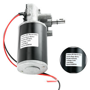 Dc 110v 80w Reversible Electric Gear Motor High Torque Speed Electric Motor
