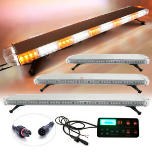 Amber White 30 47 55 72 Led Emergency Warning Tow Truck Strobe Light Bar