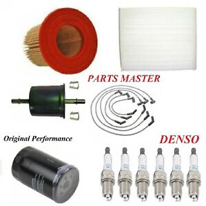 Tune Up Kit Air Cabin Oil Filters Spark Plug For Ford Mustang V6 3 9l 2004