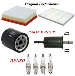 Tune Up Kit Air Cabin Oil Fuel Filters Spark Plugs For Ford Edge L4 2 0l 2017