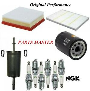Tune Up Kit Air Cabin Oil Fuel Filters Spark Plugs For Ford Edge V6 3 5l 2017