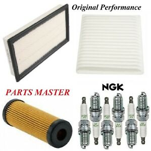 Tune Up Kit Air Cabin Oil Filters Spark Plugs For Ford Edge V6 2 7l 2015