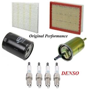 Tune Up Kit Air Cabin Oil Fuel Filters Spark Plugs For Ford Edge L4 2 0l 2016