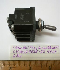 1 New Military Toggle Switch Sealed 4pst 20 Amp Cutler H ms24525 22 Lot 71 Usa