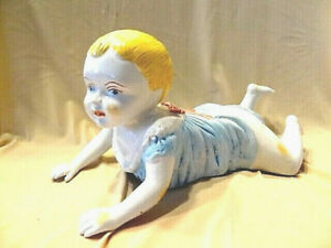 Capodimonte Piano Baby Blonde With Blue Dress Glossy Finish