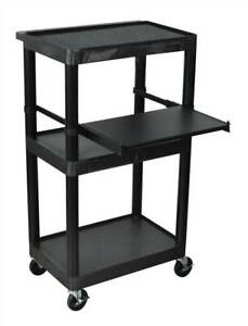 Heavy Duty Av Cart W Keyboard Tray id 8906