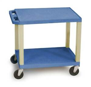 Tuffy Av Cart W 2 Shelves In Blue id 57400