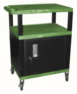 Tuffy 18 In Av Cart W Steel Cabinet In Green Black id 56865