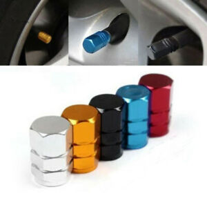 4x Car Tire Valve Stem Caps Theftproof Tyre Air Caps Airtight Cover Accessory N