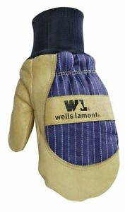 Men s Winter Mittens With Leather Palm Thinsulate Insulation Sewn in Glove
