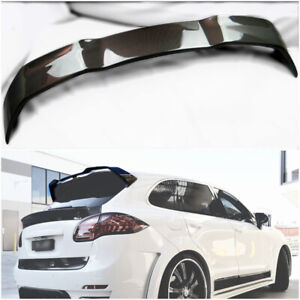 Porsche 958 Cayenne Rear Roof Spoiler Lip Tail Wing Carbon Fiber Tuning 11 14