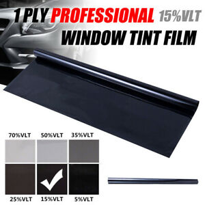 50cm X 100cm Black Glass Window Tint Shade Film Vlt 15 Auto Car Roll