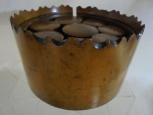 Rare Antique Lathe Turned Treen Spice Set Chip Carved Edges 8 Spice Containers