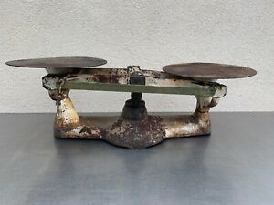 Vintage Penn Baker Phila Pa Scale Balance W Slider And 4 1 Pound Weight