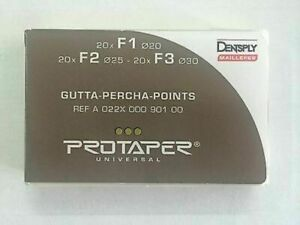 5 X Dentsply Protaper Univeral Obturation Gutta Percha Points F1 F3