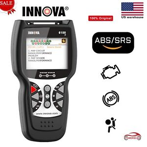 Innova 6100p Obd2 Engine Code Reader Diagnostic Scan Tool Abs Reset Airbag Us