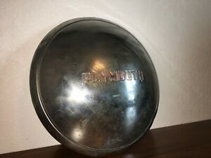 Vintage 1930s Plymouth Dog Dish Wheel Cover Hub Cap Original Oem Rat Rod