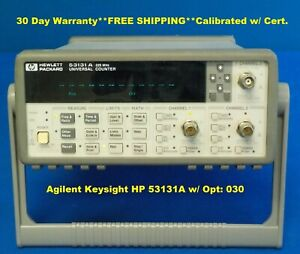 Agilent Keysight Hp 53131a W Opt 030 Universal Frequency Counter timer 225mhz
